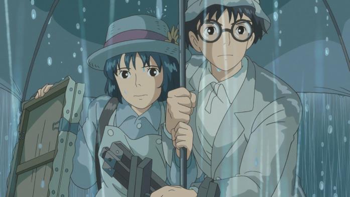 Jiro e Nahoko sotto la pioggia