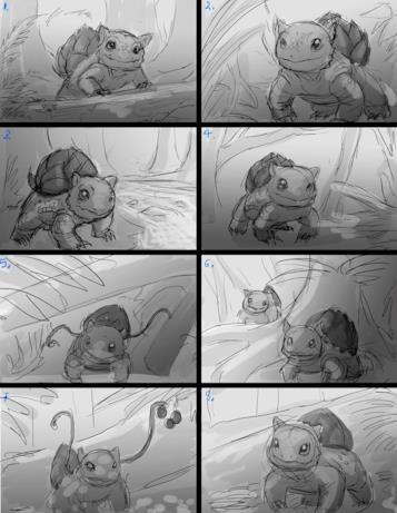 Vignette con protagoniste il pokémon Bulbasaur
