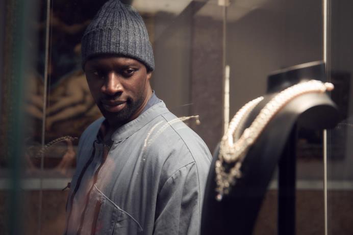 Omar Sy alias il ladro Assane Diop in Lupin