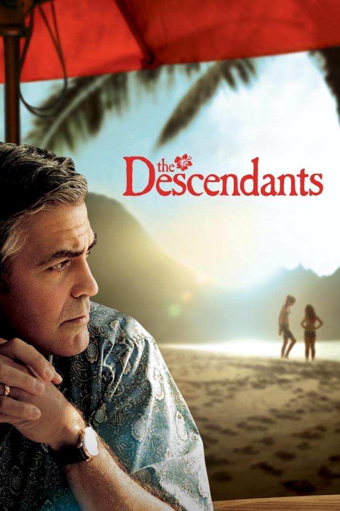 Primo piano di George Clooney nella locandina di The Descendants