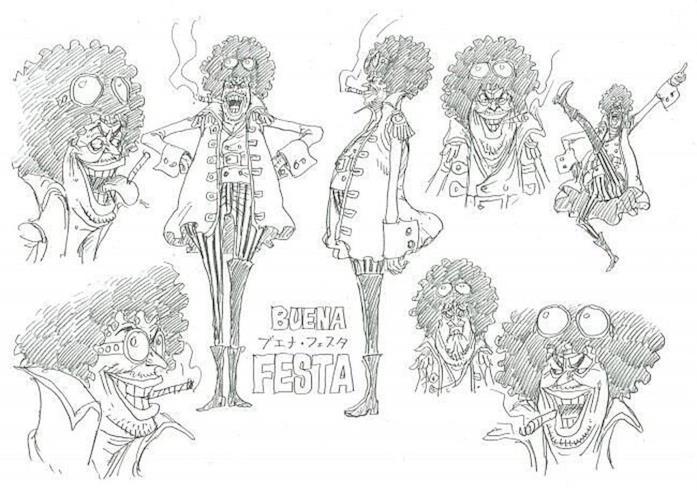 One Piece Film Character design Buena Festa