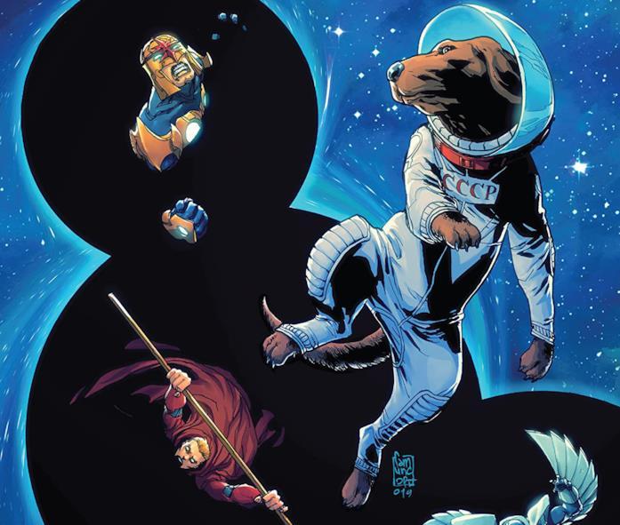 Dettaglio della cover di Guardians of the Galaxy Annual #1