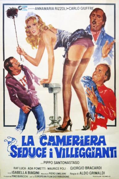 Poster La cameriera seduce i villeggianti