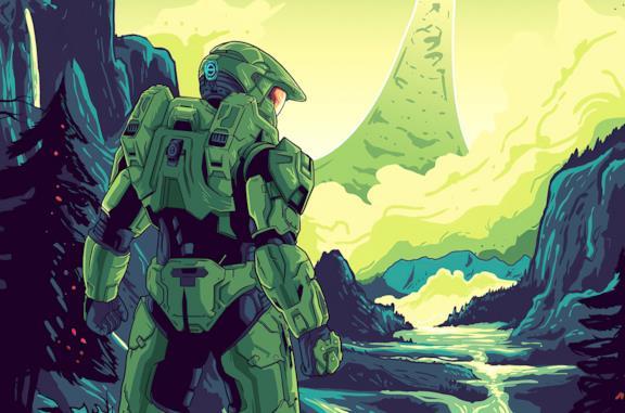 Master Chief in un artwork di Halo Infinite