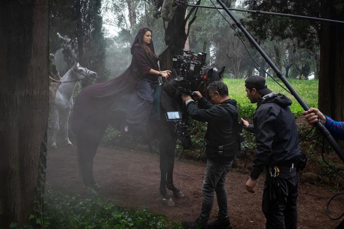 Foto dal set di Domina, serie TV di Sky