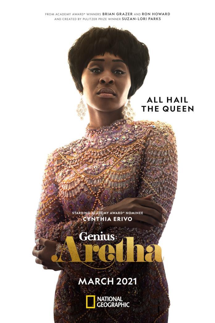 Cynthia Erivo nella locandina di Genius: Aretha