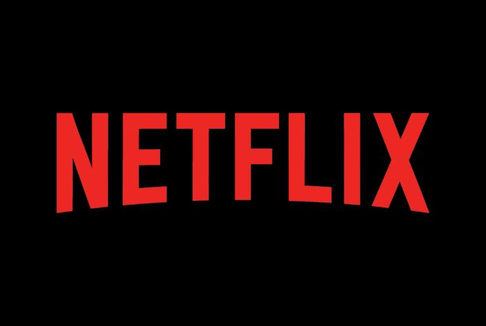 Il logo rosso di Netflix su sfondo nero