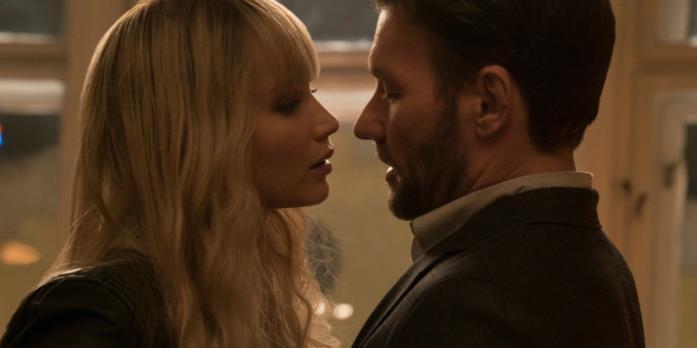 Jennifer Lawrence e Joel Edgerton in una scena di Red Sparrow