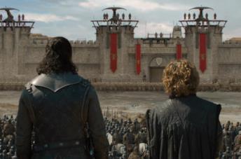Jon Snow e Tyrion di fronte alla Compagnia Dorata