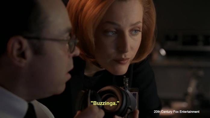 Una scena tratta dalla serie TV X-Files
