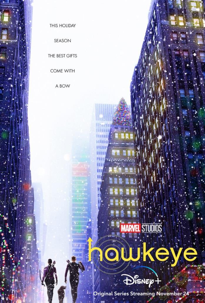 Kate e Clint sotto la neve di New York nel poster di Hawkeye