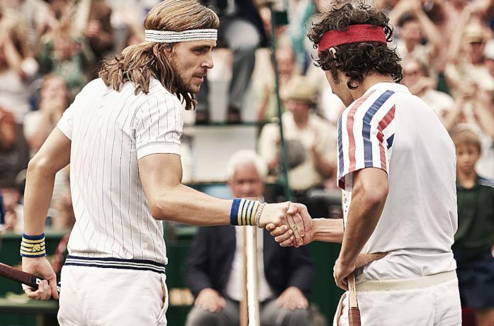 Björn Borg e John McEnroe nella celebre finale di Wimbledon
