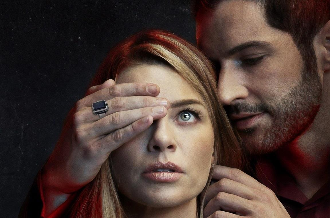 Lucifer e Chloe nella serie TV Lucifer di Netflix