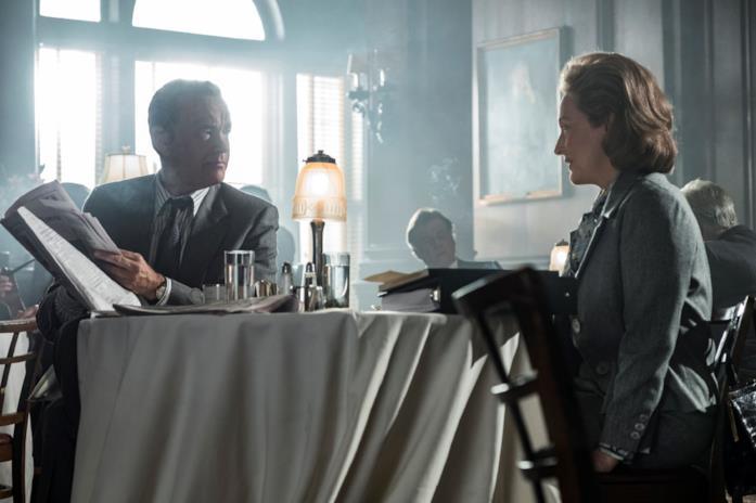Tom Hanks e Meryl Streep in una scena del film