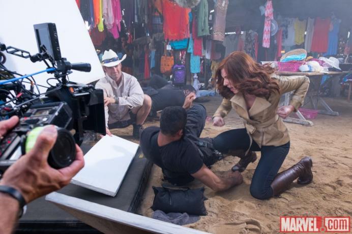 Black Widow dietro le quinte di Capitan America: Civil War
