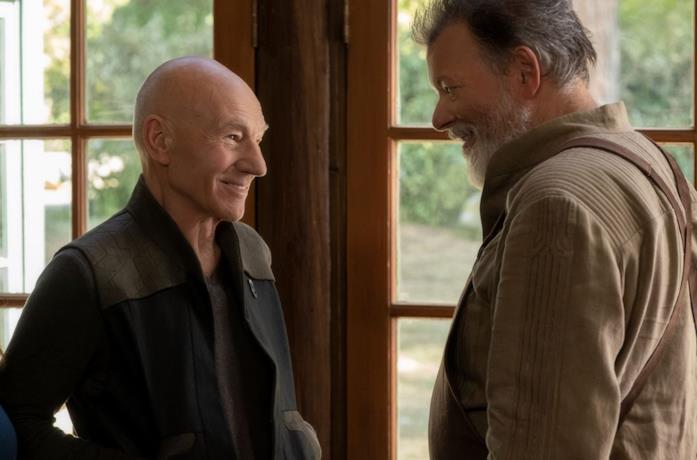 Il Capitano Jean Luc Picard con una vecchia conoscenza in Star Trek: Picard