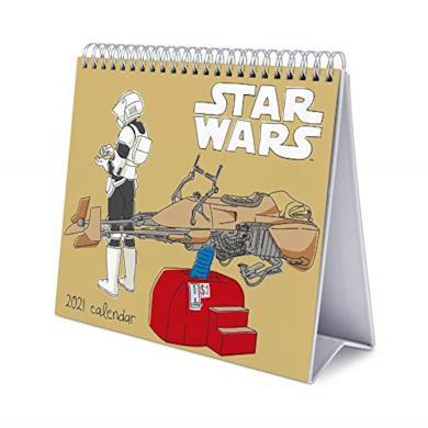 Calendario da Tavolo 2021 Star Wars Classics, calendario da scrivania 2021, 20 x 18 cm