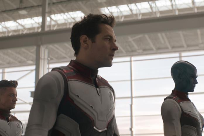 Un'immagine di Scott Lang in primo piano in Avengers: Endgame