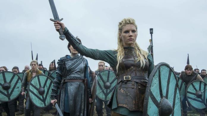 Katheryn Winnick in una scena di Vikings