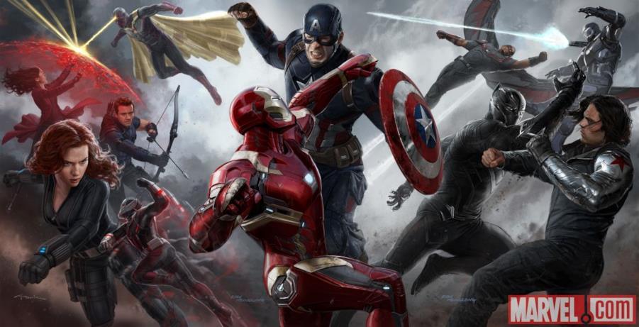 Concept Art coi protagonisti Capitan America: Civil War