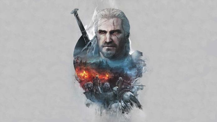 Artwork dello strigo Geralt di Rivia