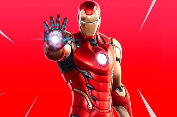 Un'immagine di Iron Man in Fortnite