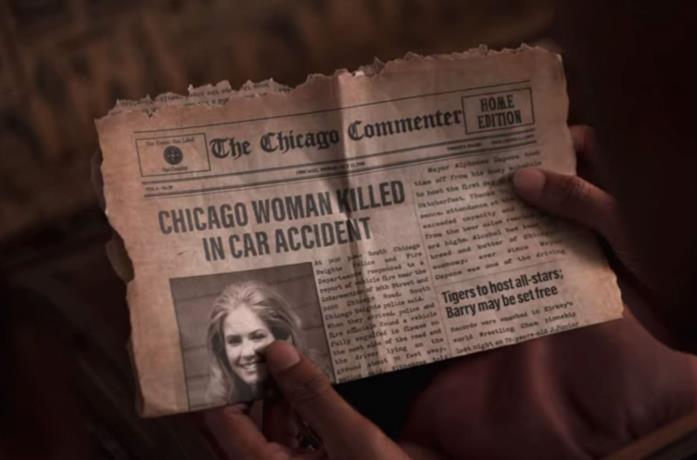Dangerous Lies: il ritaglio di giornale con la donna misteriosa