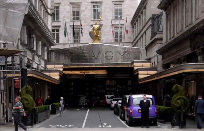 Savoy Hotel nel film Entrapment