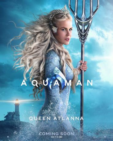 Nicole Kidman è la Regina Atlanna nel film di James Wan