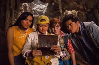 I quattro giovani protagonisti del film Alla scoperta di 'Ohana