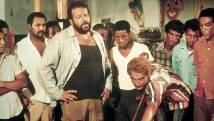 Bud Spencer e Terence Hill in una scena del film ...più forte ragazzi!