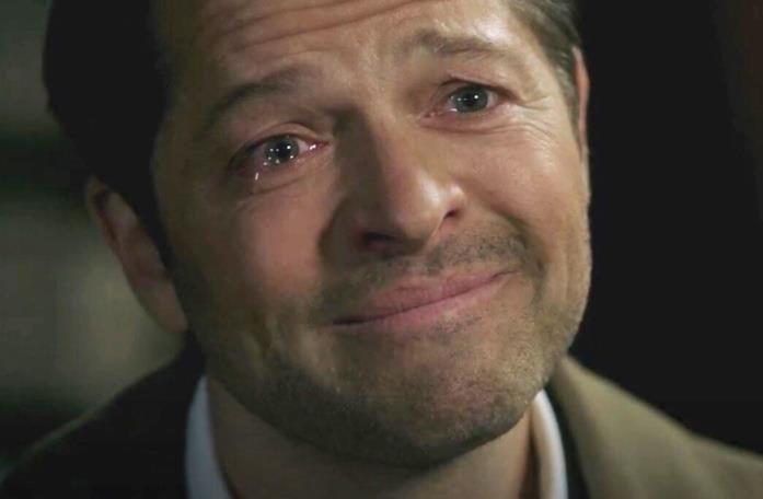 Primo piano di Misha Collins in Supernatural