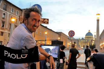 Paolo Sorretino su un set a Roma