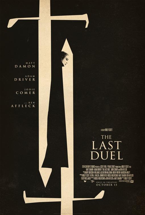 Il disegno di due spade nel poster di The Last Duel