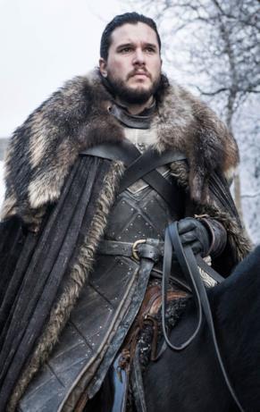 Kit Harington nei panni di Jon Snow in Game of Thrones 8