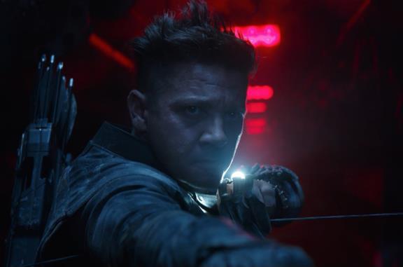 Un primo piano di Hawkeye