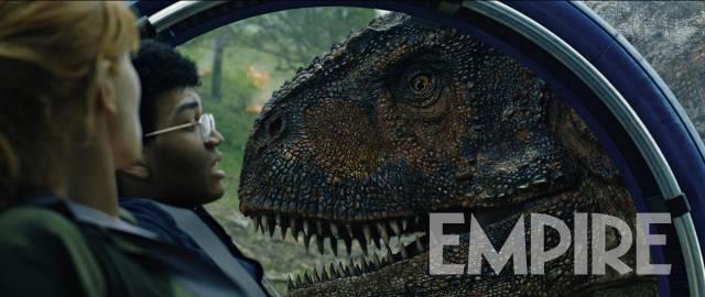 Il Carnotauro nello scatto di Empire tratto da Jurassic World: Il Regno Distrutto