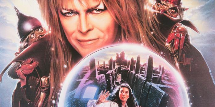 Il poster del film Labyrinth - Dove tutto è possibile con David Bowie in primo piano