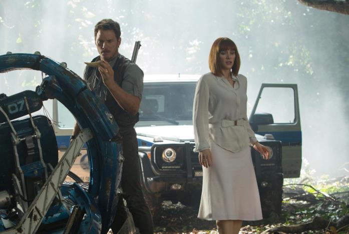 Owen e Claire da Jurassic World