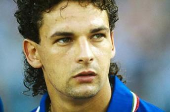 Primo piano di Roberto Baggio