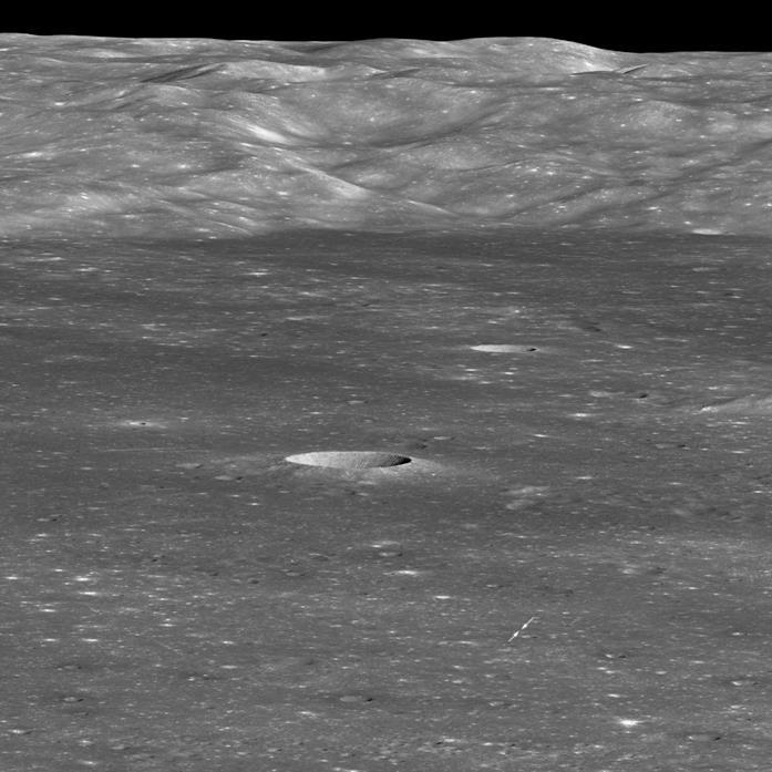 Una foto di Chang'e 4 sulla Luna, scattata dal Lunar Reconnaissance Orbiter della NASA