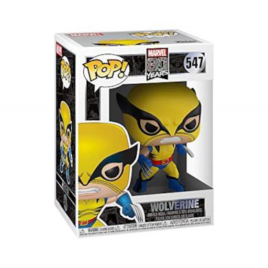 Funko- Pop Bobble Marvel: 80th-First Appearance Wolverine Figura da Collezione, Multicolore, 44155