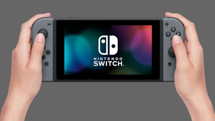 Un'immagine in cui Switch è usata come console portatile