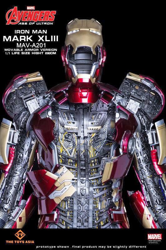 L'action figure di Iron Man di The Toys Asia