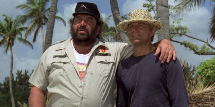 Bud Spencer e Terence Hill in una scena del film Chi trova un amico trova un tesoro