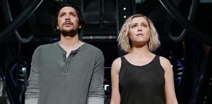 Bellamy e Clarke in The 100