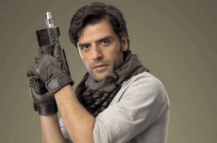 Oscar Isaac nei panni di Poe Dameron
