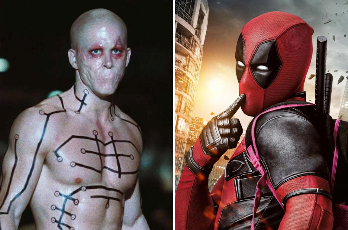 Le due versioni live-action di Deadpool