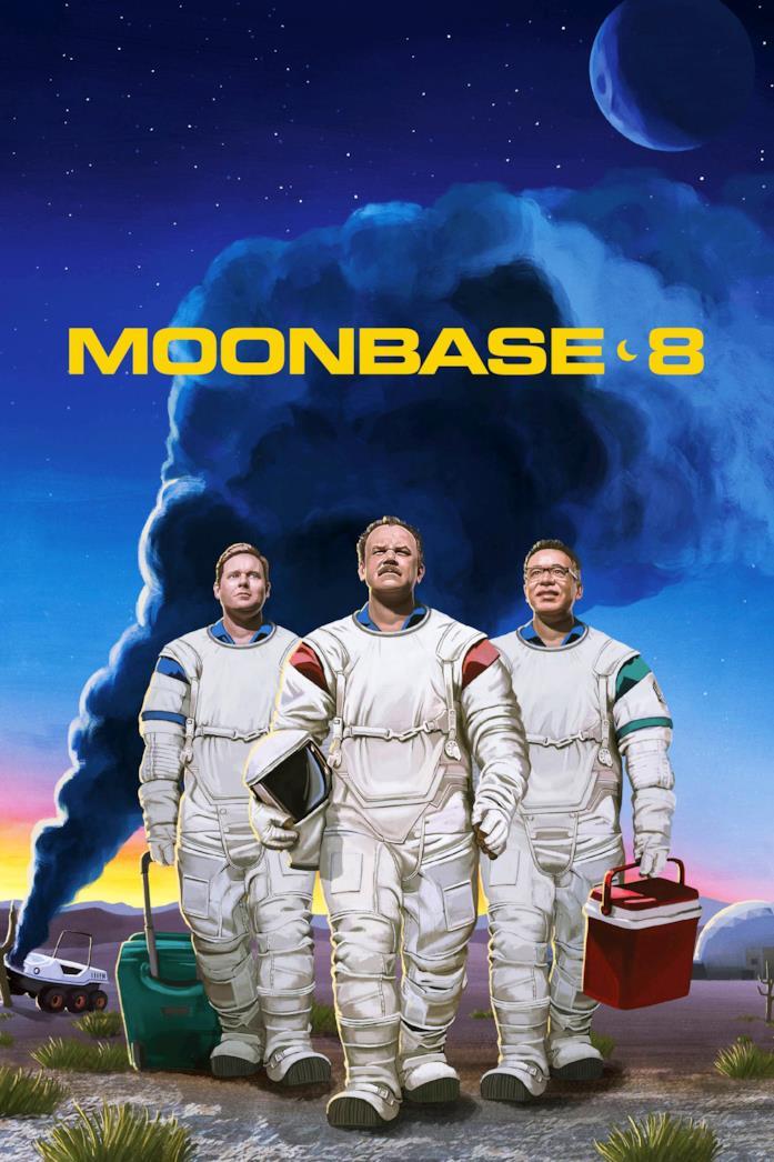 Il cast nella locandina di Moonbase 8