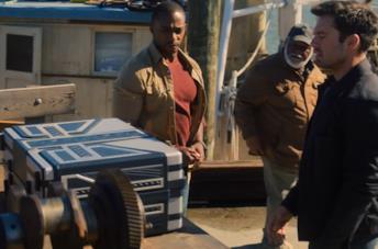 Sam e Bucky in una scena dell'episodio 5 di The Falcon and the Winter Soldier